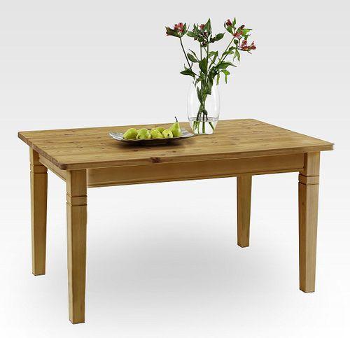 Esstisch 160x90cm gelaugt geölt Kiefer Esszimmertisch Tisch Vollholz massiv – Bild 1