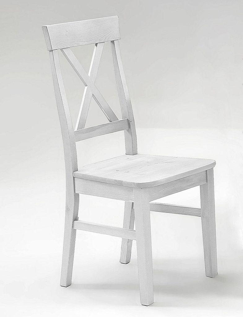 stuhl 45x94x43cm kiefer massiv wei lasiert. Black Bedroom Furniture Sets. Home Design Ideas