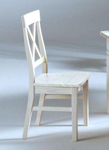 Küchenstuhl weiß lasiert Kiefer Holzstuhl Vollholz Stuhl massiv – Bild 2