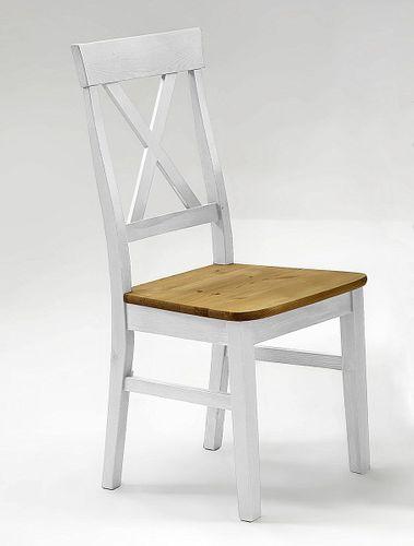 Essgruppe 2farbig weiß gelaugt Kiefer Tischgruppe Vollholz massiv – Bild 4