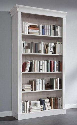 Bücherregal weiß lasiert Kiefer Standregal Büroregal Vollholz massiv – Bild 1