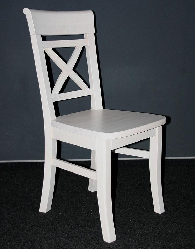 Esszimmer Stuhl Küchen Stühle weiß Holz Kiefer massiv