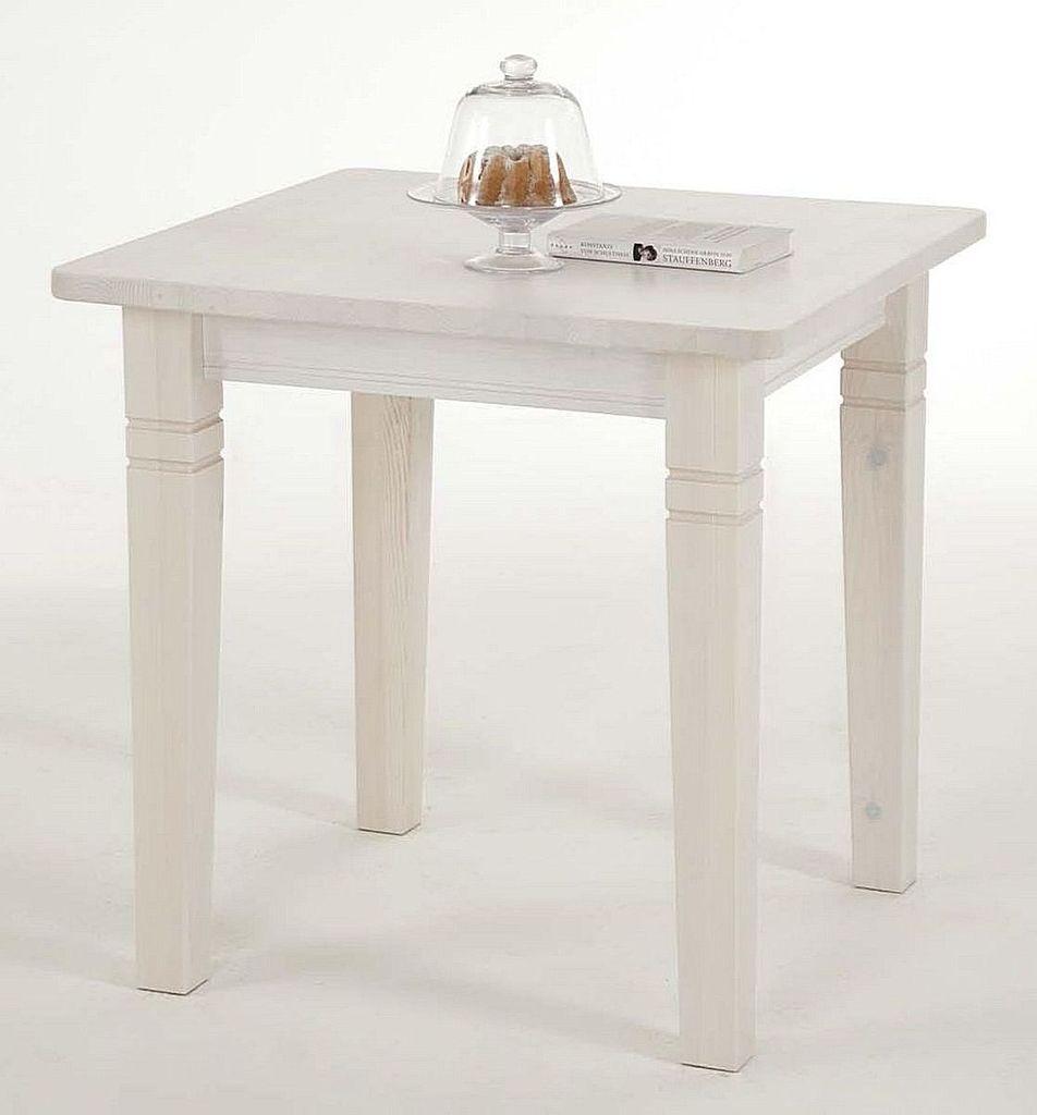esstisch 78x78x78cm kiefer massiv wei lasiert. Black Bedroom Furniture Sets. Home Design Ideas