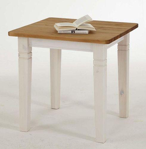 Küchentisch 78x78cm 2farbig weiß gelaugt geölt Kiefer Esstisch Tisch Vollholz massiv – Bild 2