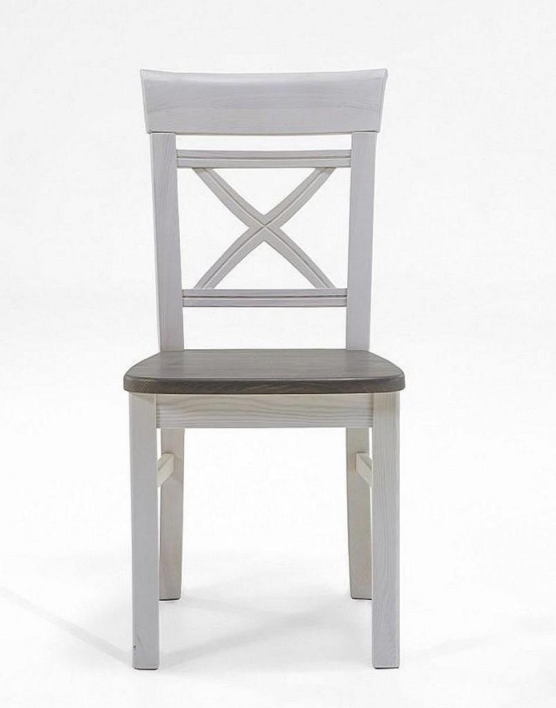 Holzstuhl Weiß stuhl 45x94x43cm ohne armlehnen kiefer massiv 2farbig weiß grau