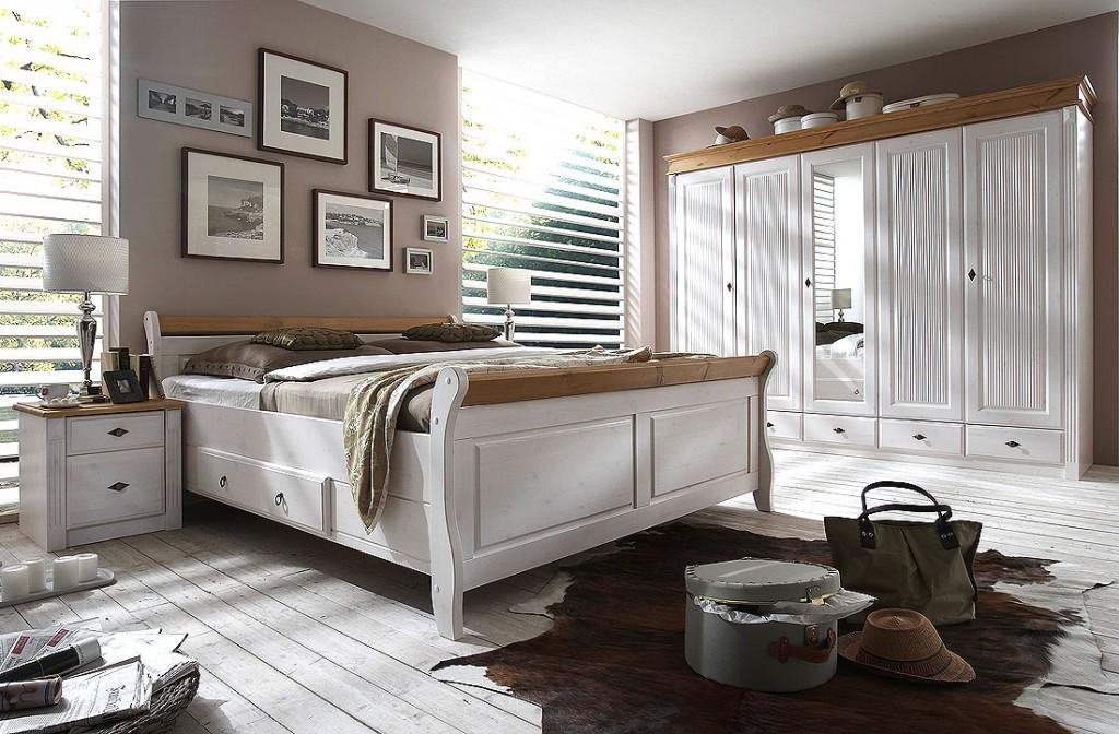 Massivholz Nachttisch Nachtschrank Nachtkommode Kiefer Massiv Weiß Gelaugt