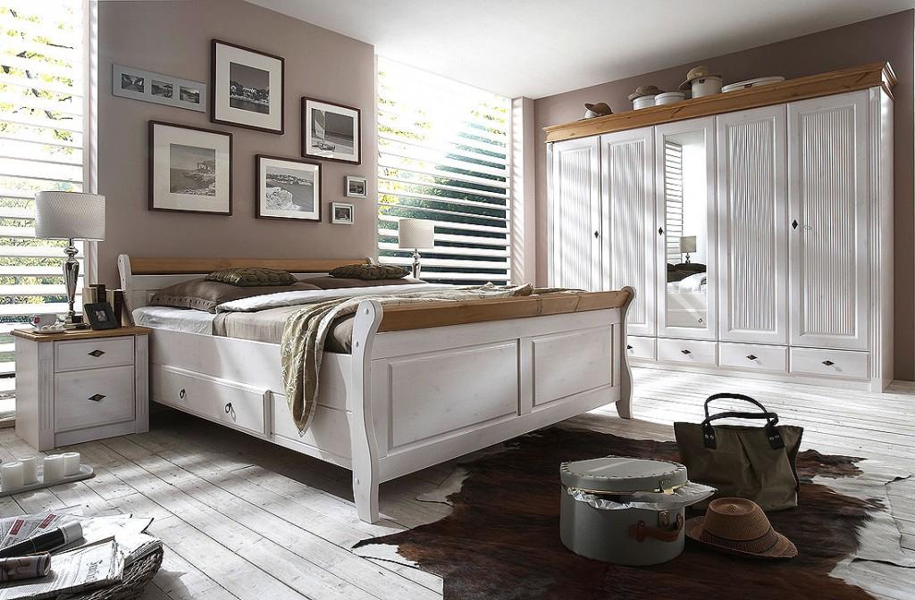 bett 200x200 2 schubladen kiefer massiv 2farbig wei. Black Bedroom Furniture Sets. Home Design Ideas
