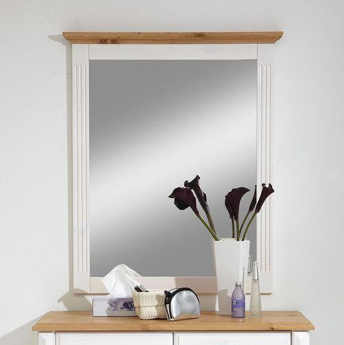 Kommode Wandspiegel Dielen-Set weiß gelaugt Landhausstil – Bild 2