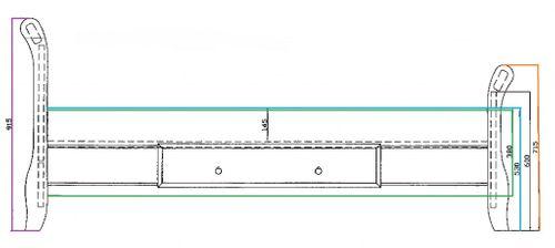 Bett mit Schublade 90x200cm Holzbett Kiefer massiv gelaugt – Bild 4