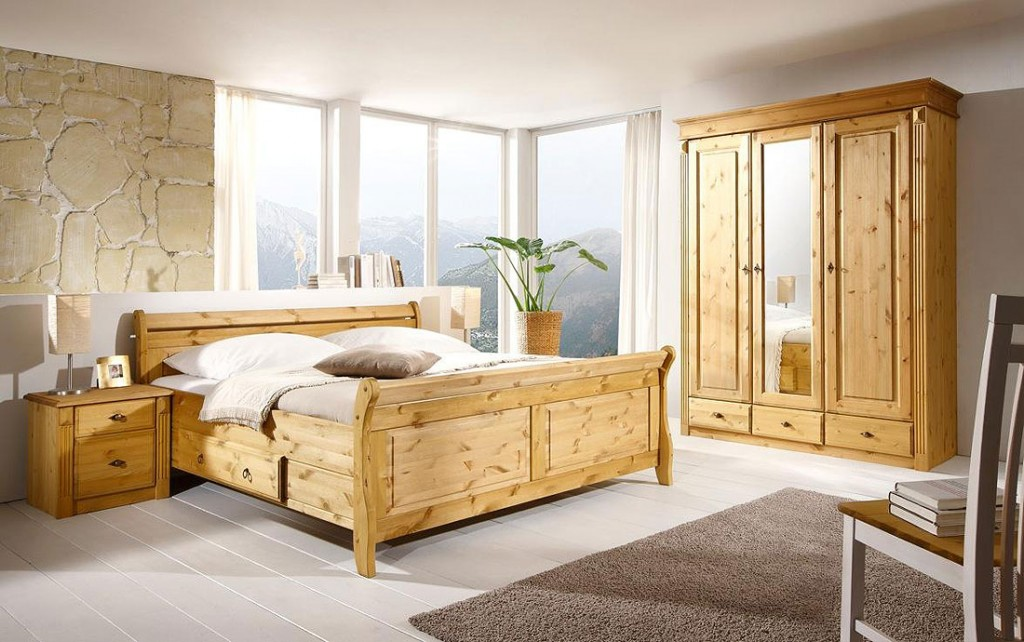 bett mit schubladen 140x200 holzbett kiefer massiv gelaugt. Black Bedroom Furniture Sets. Home Design Ideas