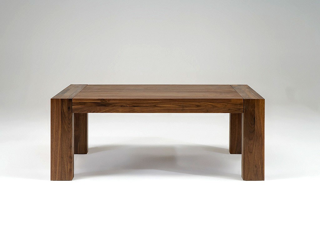 Couchtisch Beistelltisch Tisch Sofatisch Nussbaum Massiv Geolt