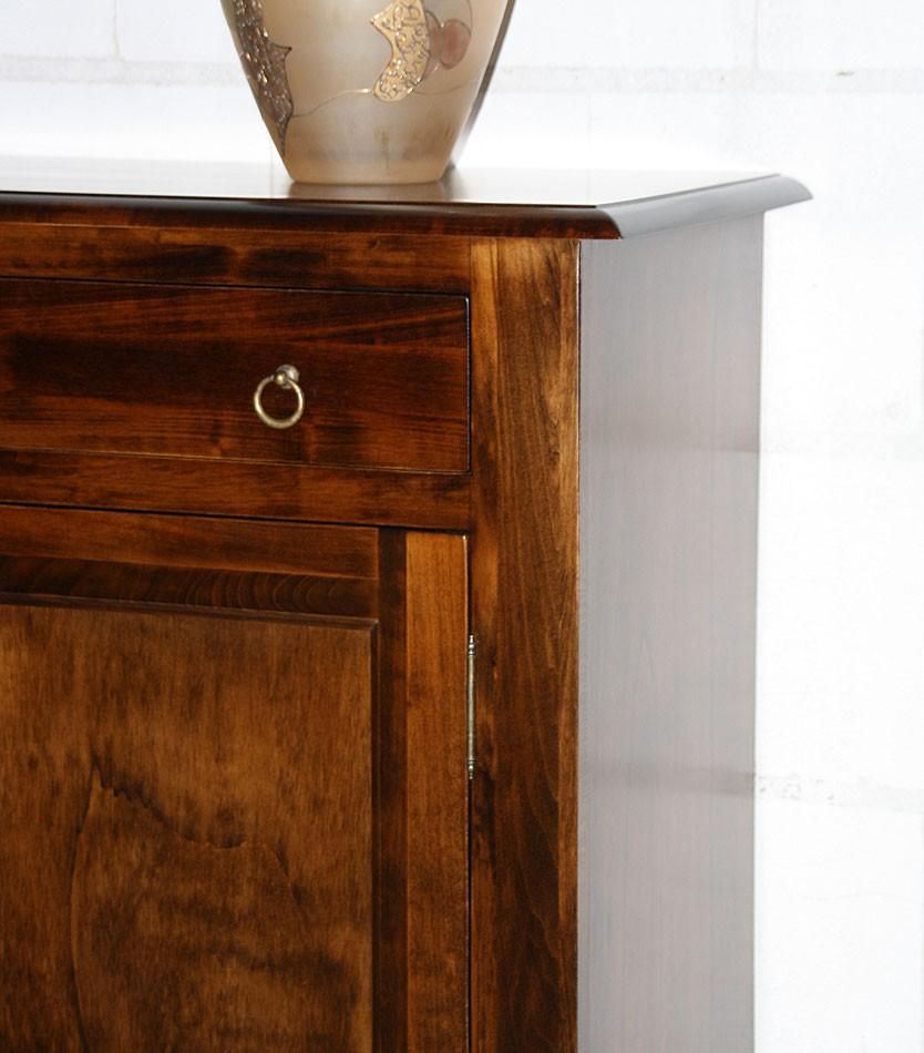 Kommode 105x97x42cm 2 Türen 1 Schublade Pappel Massiv