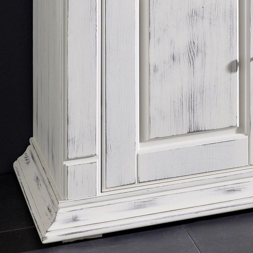 wohnzimmer komplett 5teilig weiß stube kiefer massiv shabby-chic