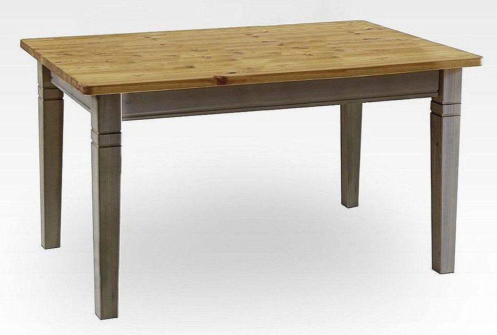 esstisch 140x78x90cm kiefer massiv 2farbig grau lasiert gelaugt ge lt. Black Bedroom Furniture Sets. Home Design Ideas