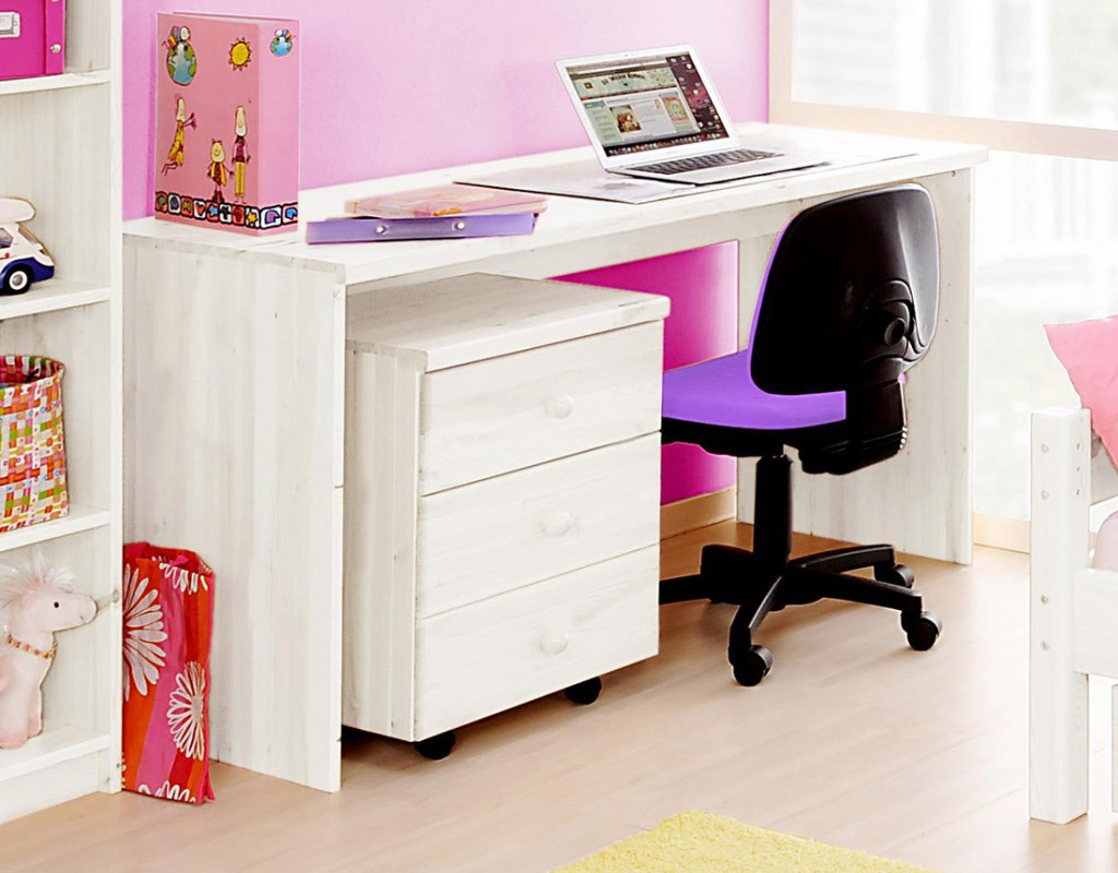 schreibtisch 140x76x60cm mit rollcontainer kiefer massiv. Black Bedroom Furniture Sets. Home Design Ideas