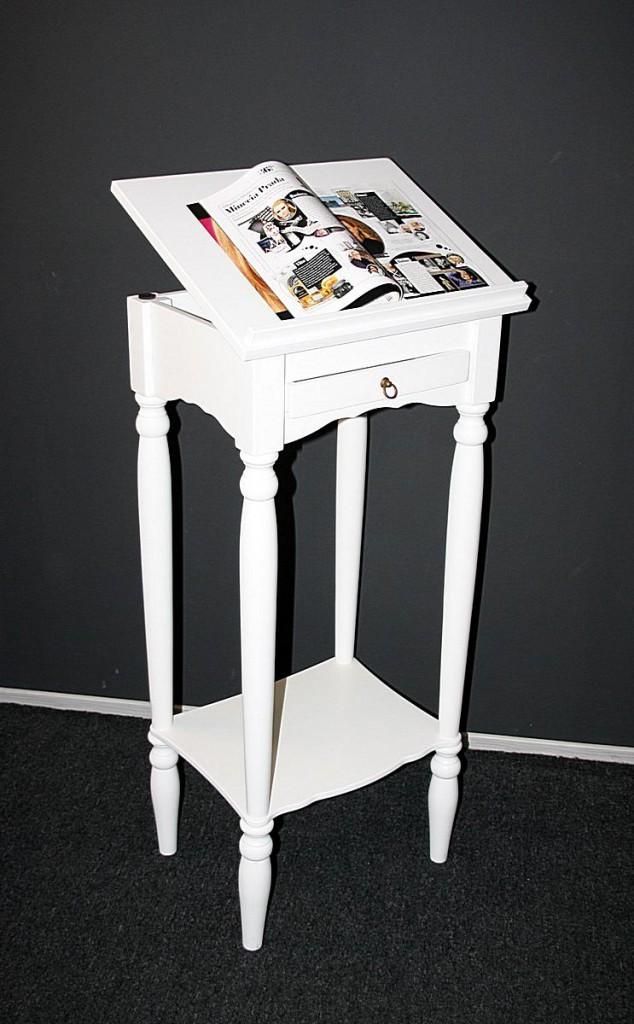 Stehpult VARESE Pappel weiß lackiert, Rednerpult, Notenständer