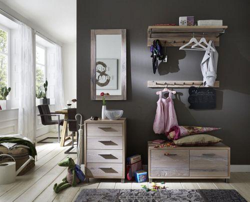 Wandspiegel 50x100 Balkeneiche white-wash Dielenspiegel Eiche massiv – Bild 2