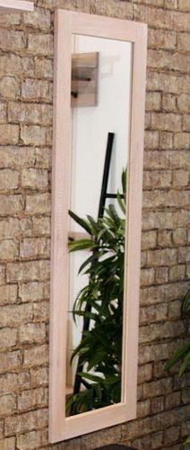 Flurspiegel 50x150 Balkeneiche white-wash Wandspiegel Eiche massiv – Bild 1