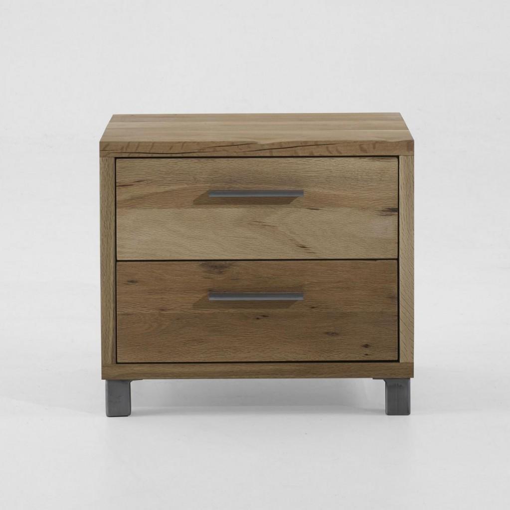 kommode 50x44x40cm 2 schubladen balkeneiche massiv ge lt. Black Bedroom Furniture Sets. Home Design Ideas