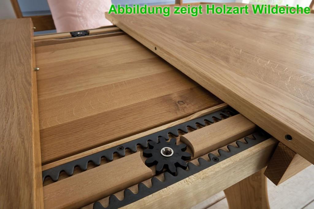 Ausziehtisch 130 172 214x74x84cm Mit 2 Einlegeplatten Massivholz Geolt