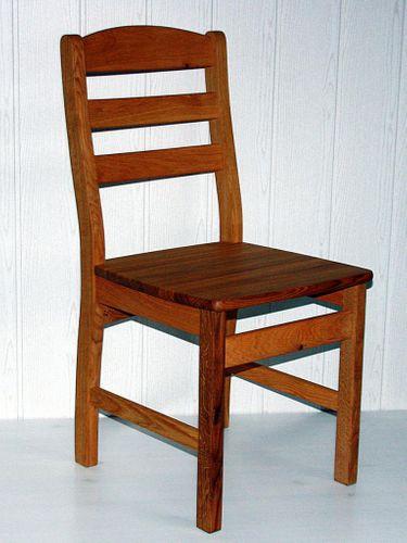 Holzstuhl massiv Stuhl mit Holzsitz Wildeiche geölt – Bild 2