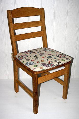 Holzstuhl massiv Stuhl mit Holzsitz Wildeiche geölt – Bild 7