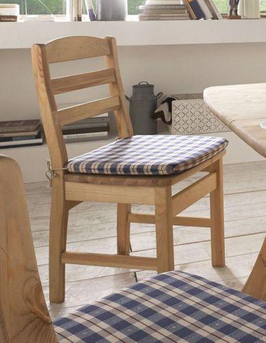Stuhl mit Holzsitz Kiefer massiv gelaugt geölt – Bild 1