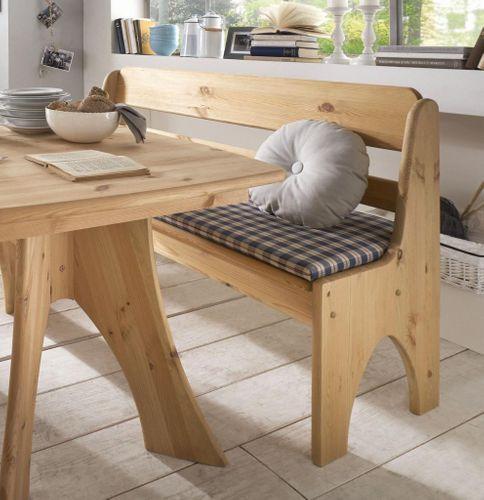 Sitzbank 91cm Kiefer gelaugt geölt Truhenbank Holz massiv – Bild 2