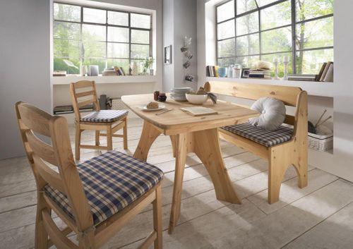 Sitzbank 156cm Kiefer gelaugt geölt Truhenbank Holz massiv – Bild 4
