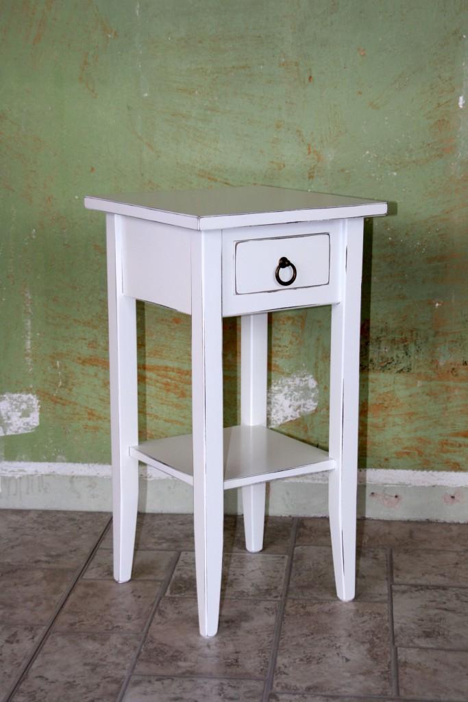 telefontisch beistelltisch konsolentisch nachttisch antik wei shabby chic smash. Black Bedroom Furniture Sets. Home Design Ideas