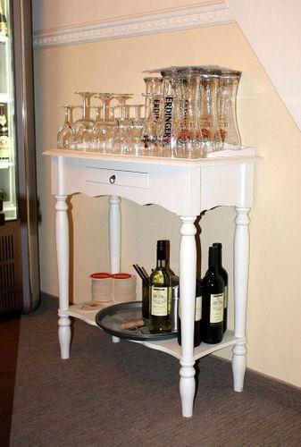 massivholz konsolentisch telefontisch beistelltisch 81x49. Black Bedroom Furniture Sets. Home Design Ideas