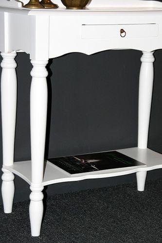 Konsolentisch weiß Wandtisch Vollholz Telefontisch massiv lackiert – Bild 7