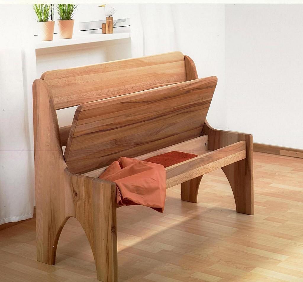 sitzbank 146cm kernbuche ge lt truhenbank buche massiv. Black Bedroom Furniture Sets. Home Design Ideas