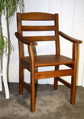 Armlehnstuhl 49x92x52cm, mit Holzsitz, Kiefer massiv provence lackiert