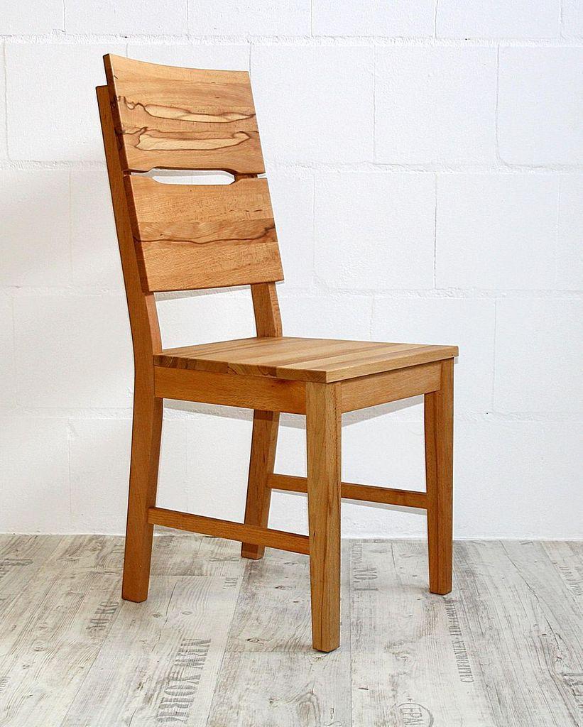 Stuhl 46x95x50cm Mit Holzsitz Kernbuche Massiv Geolt