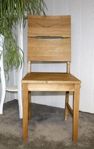 Holzstuhl geölt Vollholz Stuhl mit Holzsitz Wildeiche massiv – Bild 5
