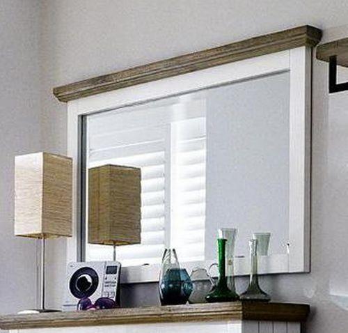 Wandspiegel 124x75 Akazie weiß vintage Flurspiegel shabby-chic – Bild 1