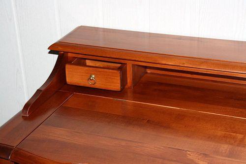 Italienischer Sekretär kirschbaumfarben Schreibtisch Konsolentisch Holz massiv – Bild 7