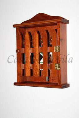 Schlüsselkasten Schlüsselschrank 27x21 Holz massiv kirsch