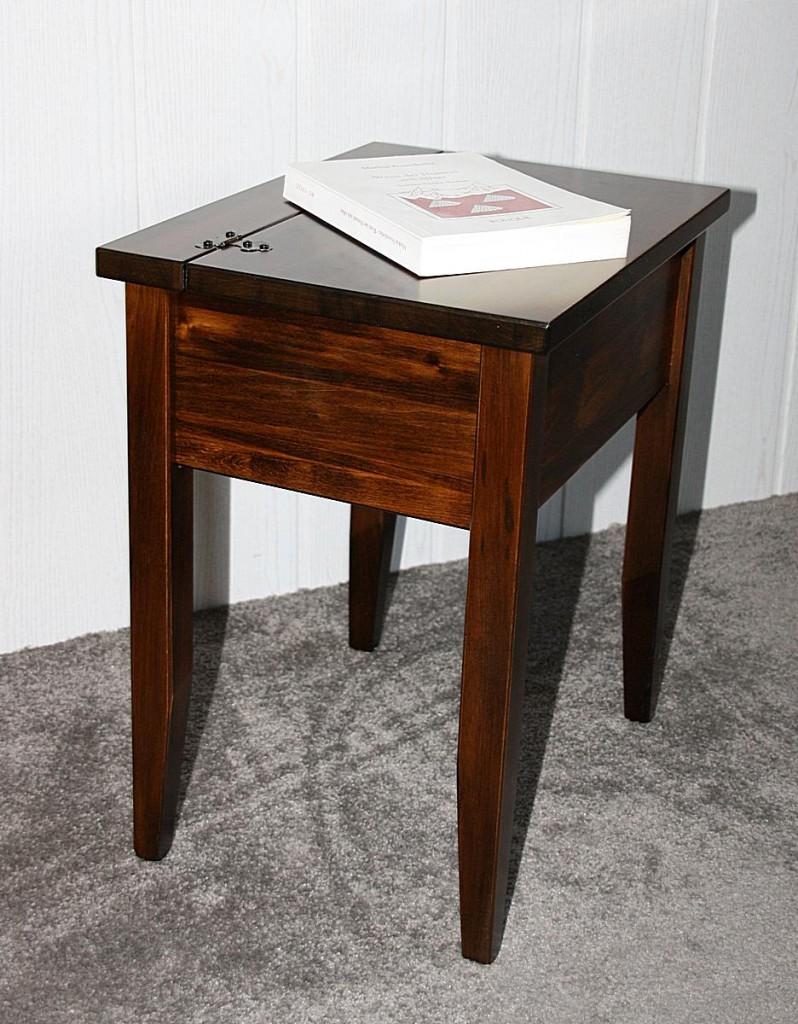 beistelltisch kolonial nachttisch mit klappe nachtkommode. Black Bedroom Furniture Sets. Home Design Ideas