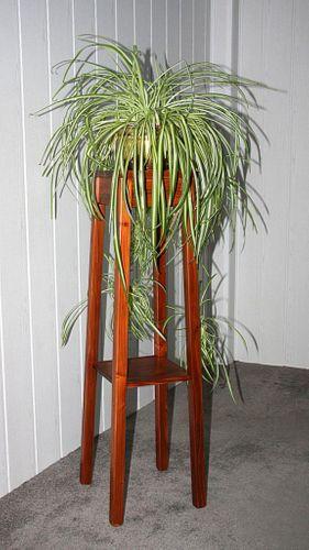 Blumenhocker kirschbaumfarben Blumentisch 100cm Beistelltisch Holz massiv – Bild 4