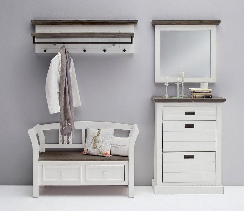 dielen set 4teilig dielenbank schuhkommode hutablage. Black Bedroom Furniture Sets. Home Design Ideas