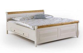 Bett 140x200, 2 Schubladen, Kiefer massiv