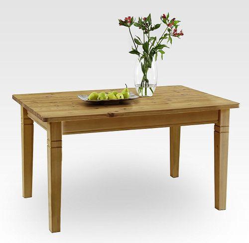 Küchentisch 120x78cm gelaugt geölt Kiefer Esstisch Tisch Vollholz massiv – Bild 1