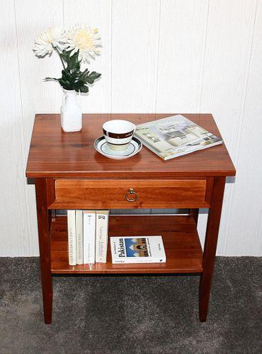 Beistelltisch Nachttisch Konsolentisch Holz massiv kirsch – Bild 4