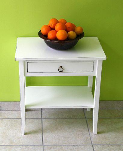 Beistelltisch Nachttisch Konsolentisch Holz massiv weiß shabby chic – Bild 3