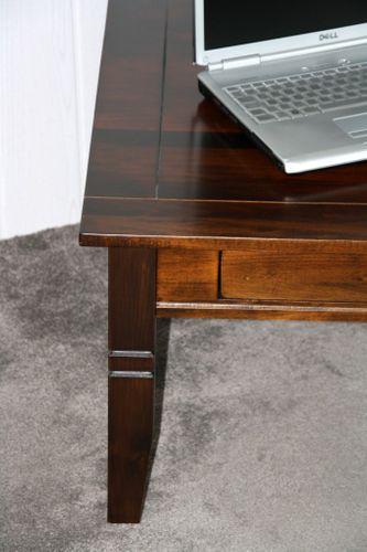 Couchtisch Beistelltisch braun nussbaum Farbe Sofatisch Tisch 85x85cm mit Schublade – Bild 9