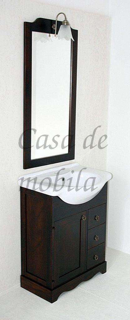 4teiliges Massivholz Badmobel Set Italienische Badezimmermobel