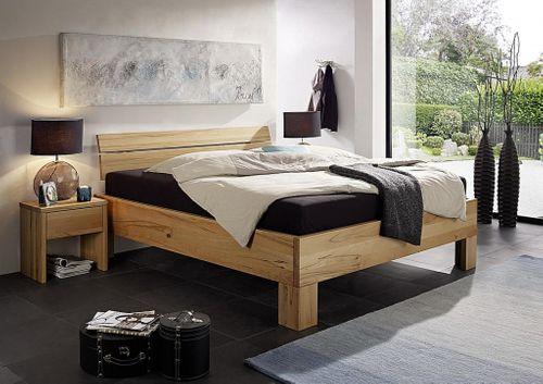 Bett 180x200 Doppelbett Vollholz Kernbuche massiv geölt Rahmenstärke 4cm – Bild 2