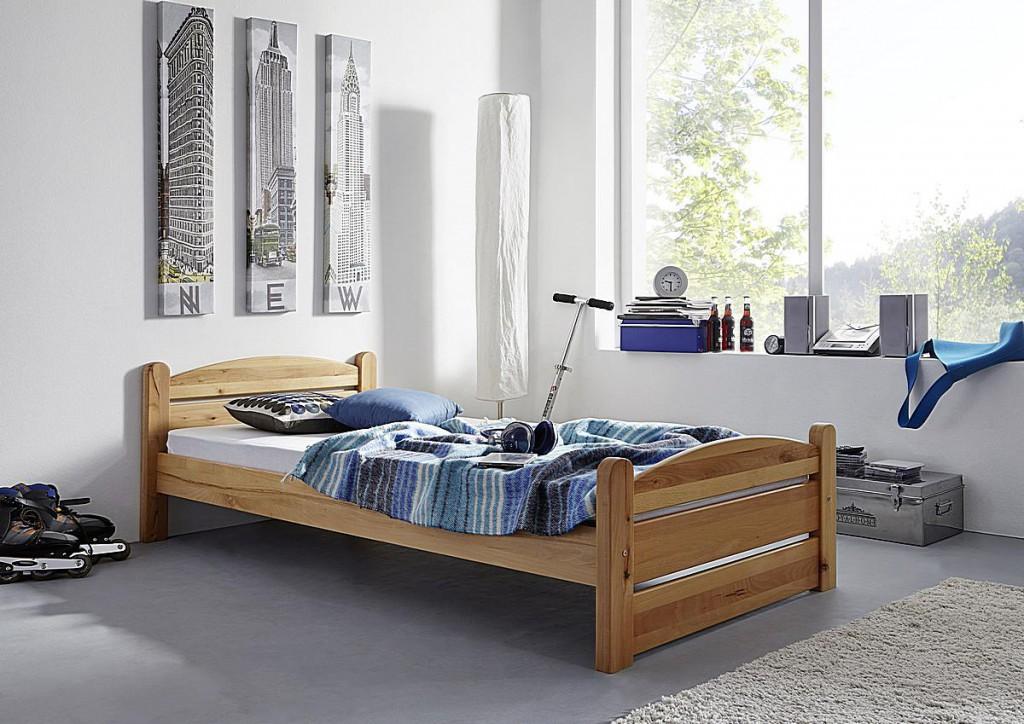 Betten massivholz bett 140x200 buche unter 350 - Etagenbett 180x200 ...